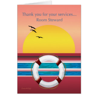 Room Steward - Thank you - Cruise Ship Card