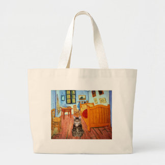 Room - Tabby Tiger cat 31 Large Tote Bag