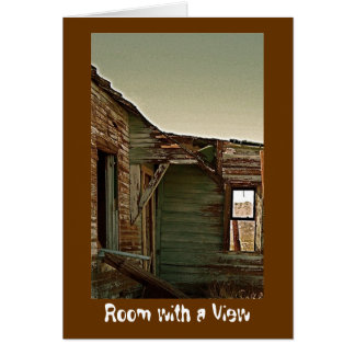 """Room with a View""  blank card"