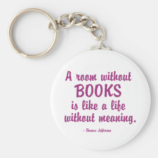 Room Without Books Is Like A Life Without Meaning Keychains