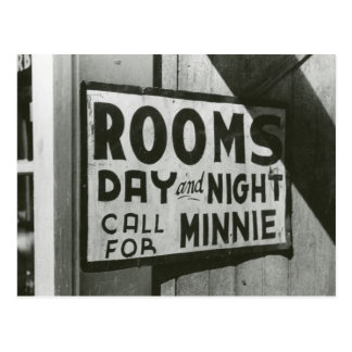 Rooms For Rent 1939 Postcard