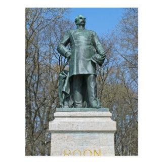 Roon Statue in Berlin Postcard