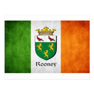 Rooney Irish Flag Postcard