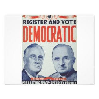 Roosevelt 1940 - Truman Anuncios Personalizados