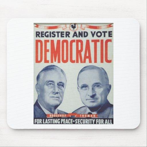 Roosevelt 1944 - Truman Tapete De Ratones