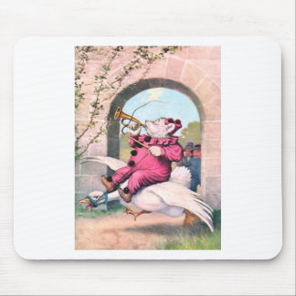 Roosevelt Bear as a Clown Riding On Mother Goose Mouse Pad