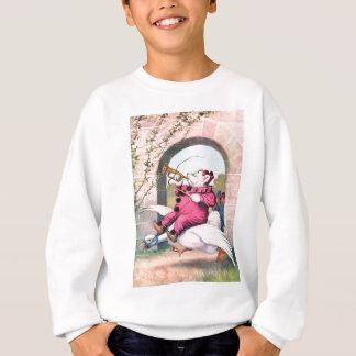 Roosevelt Bear as a Clown Riding On Mother Goose Sweatshirt