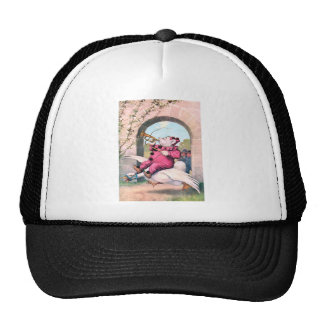 Roosevelt Bear as a Clown Riding On Mother Goose Trucker Hat
