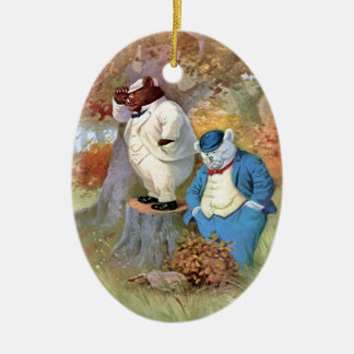 Roosevelt Bear Detectives in the Woods Ceramic Ornament
