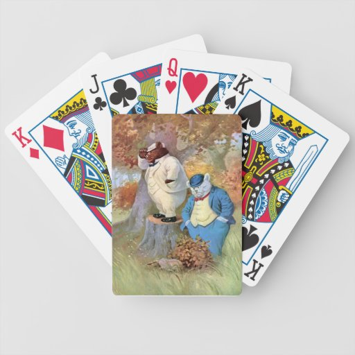 Roosevelt Bear Detectives in the Woods Bicycle Card Decks