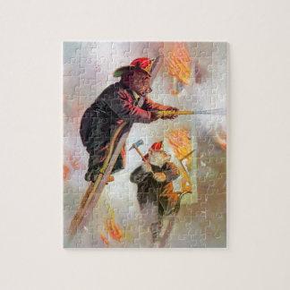 Roosevelt Bear Firefighters Jigsaw Puzzle