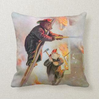 Roosevelt Bears as Firefighters Throw Pillow