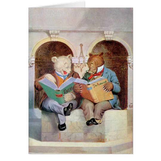 Roosevelt Bears at the Public Library Card