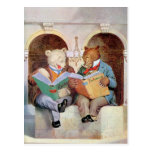 Roosevelt Bears at the Public Library Post Cards