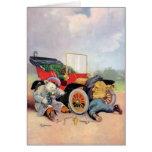 Roosevelt Bears Car Mechanics. Greeting Card
