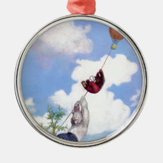 Roosevelt Bears Descend from Hot Air Ballon Ornaments