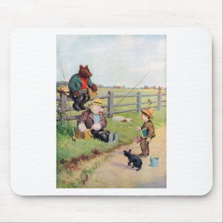 Roosevelt Bears Gone Fishing Down on the Farm! Mouse Pad
