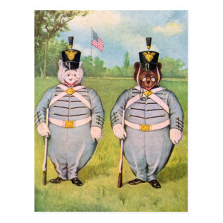Roosevelt Bears In The Military Postcard