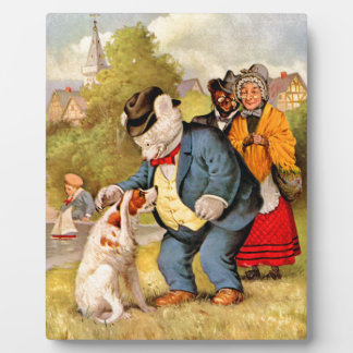 Roosevelt Bears & Old Mother Hubbard & Her Dog Plaques