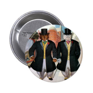Roosevelt Bears On the Town In New York Pinback Button