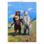 Roosevelt Bears Out in the American West Greeting Card