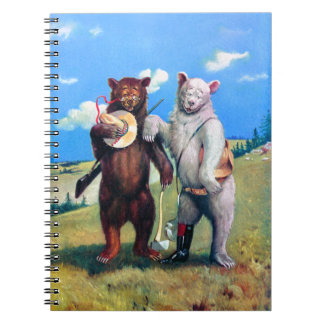 Roosevelt Bears Out in the American West Spiral Note Books