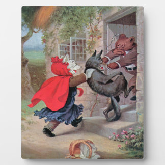 Roosevelt Bears Play Little Red Riding Hood Display Plaques