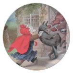 Roosevelt Bears Play Little Red Riding Hood Dinner Plates
