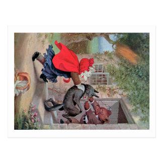 Roosevelt Bears Play Little Red Riding Hood Postcard