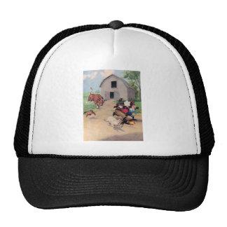 Roosevelt Bears Run from  A  Bull Down on the Farm Trucker Hat