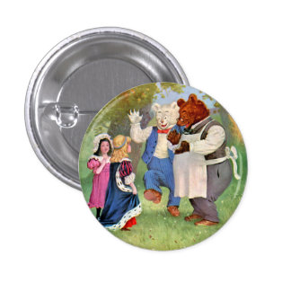 Roosevelt Bears With The Fairy Tale Princesses Button