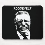 Roosevelt -- Black and White Mouse Pad