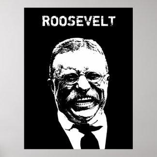 Roosevelt -- Black and White Poster