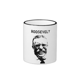 Roosevelt -- Black and White Ringer Mug