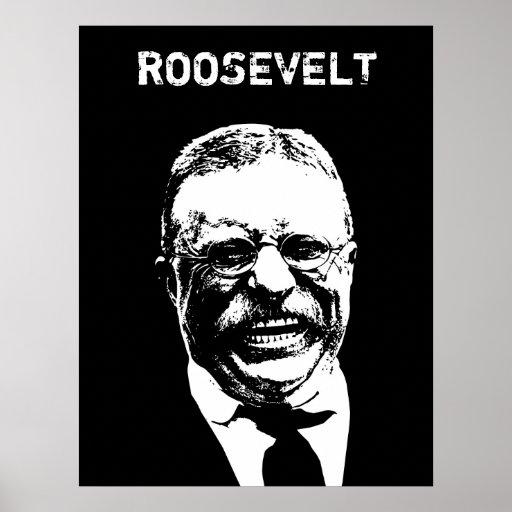 Roosevelt -- Blanco y negro Posters