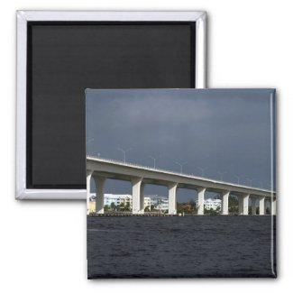 Roosevelt Bridge Jensen Beach Florida Photo Fridge Magnet