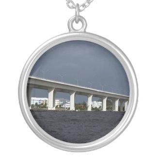Roosevelt Bridge Jensen Beach Florida Photo Round Pendant Necklace