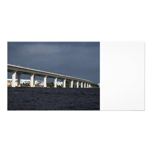 Roosevelt Bridge Jensen Beach Florida Photo Customized Photo Card