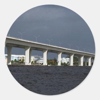 Roosevelt Bridge Jensen Beach Florida Photo Round Stickers