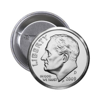Roosevelt Dime Pinback Buttons