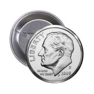 Roosevelt Dime Pinback Button