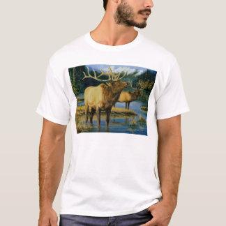 Roosevelt Elk Bulls in the Lake T-Shirt