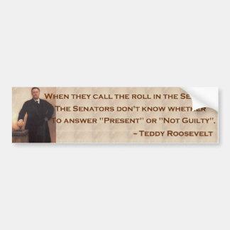 Roosevelt en el senado Bumpersticker Pegatina Para Auto