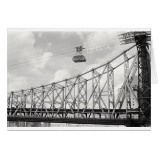 Roosevelt Island Tramway, NYC, Analog (film) photo Card
