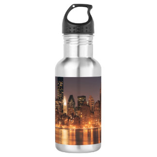 Roosevelt Island View of the New York City Skyline 18oz Water Bottle