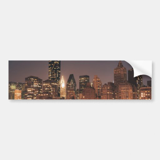 Roosevelt Island View of the New York City Skyline Bumper Stickers