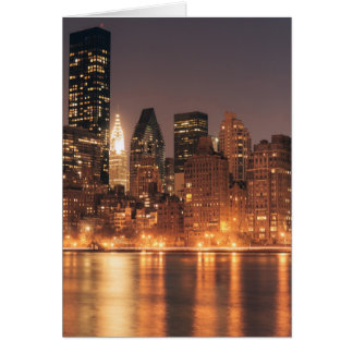 Roosevelt Island View of the New York City Skyline Card