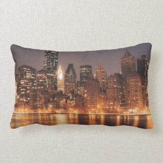 Roosevelt Island View of the New York City Skyline Lumbar Pillow