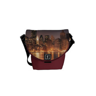 Roosevelt Island View of the New York City Skyline Messenger Bags