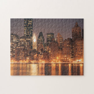 Roosevelt Island View of the New York City Skyline Jigsaw Puzzle